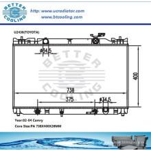 Radiador de agua para Toyota Camry 02-04 OEM: 164000H130 / 164000H131