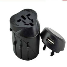 Power Universal Usb Travel Charger With Retractable Plug Au / Uk / Us / Eu