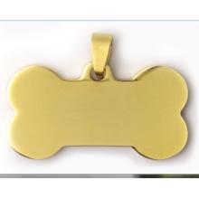 Nuevo diseño de forma de hueso etiqueta de mascota etiqueta de perro de moda colgante etiqueta de perro fuente de nfc chino