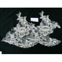 Großhandelsneue Art wulstige Stickerei Braut wulstige Spitzegewebe