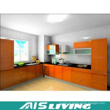 Armário de cozinha da grão da madeira de Foshan completo (AIS-K718)