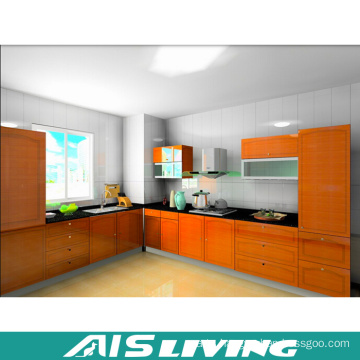 Foshan Wood Grain Kitchen Cabinet Complete (AIS-K718)