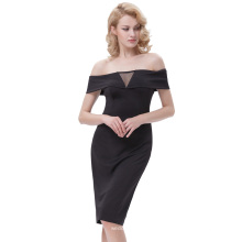 Kate Kasin Sexy Women's Off-the-shoulder Hips-Wrapped Bodycon crayon cravate KK000613-1