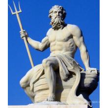 figure du mythe grec poseidon grandes statues de pierre en plein air des dieux