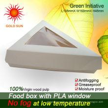 Das Dreieck Fast Food Packaging mit Anti-Beschlag-Fenstern