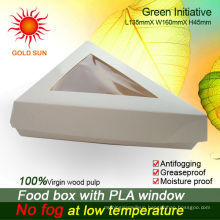 The triangle Fast Food Packaging With The Anti-fog Windows