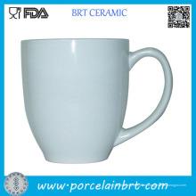 Weiße bedruckte Porzellan Kaffeetasse