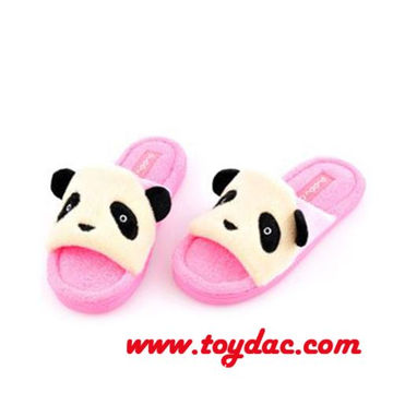 plush kids panda slipper
