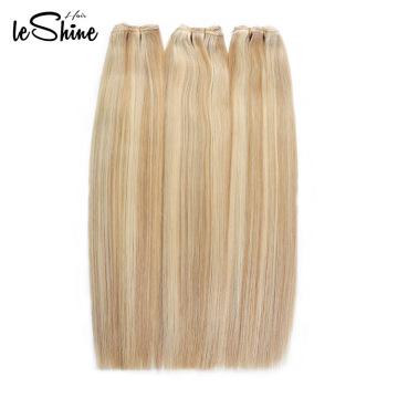 Doppeltes gezeichnetes 100% Menschenhaar-brasilianische gerade Bündel-Welle europäisches / russisches blondes Haar 613