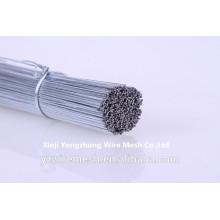 Alambre de acero de corte recto galvanizado como alambre de unión