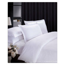 200-400T Linge de lit blanc pur en coton égyptien