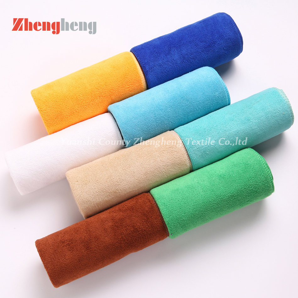 Weft Knitting Towel with Brush Style