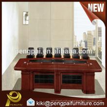 Oblong shape wooden conference table design