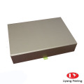 Caixa de presente de cor dourada embalagem magnética