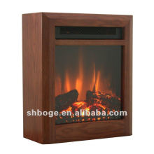 small portable moving electric MDF floating fireplace