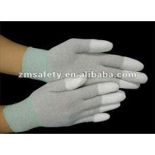 Guante apto superior / antiestático de Nylon ESD de la fibra de carbono