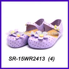 summer purple petal plastic jelly shoes pvc jelly shoes kids jelly shoes
