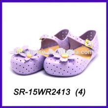 Лето фиолетовый лепесток пластиковые желе обувь pvc желе обувь детская обувь желе