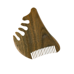 Sandalwood wide tooth 2 sides wooden massage comb