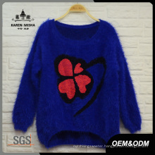 Women Clover Loose Warm Sweater