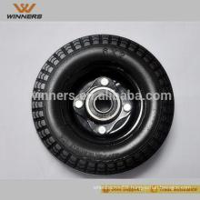 flat free wheelbarrow tire pu foamed wheel 6x2 3.00-8 3.50-4