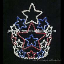 Самые последние кристаллические диадемы тиары звезды rhinestone для девушки