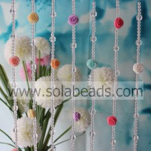 Easter Decoration 6MM&12MM&21MM Wire Crystal Acrylic Beaded Garland Trimming