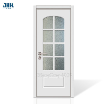 JHK Frosted Glass Bathroom French  Wood Door