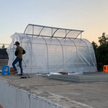 Poly Tunnel Garden Walk en invernadero