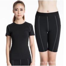 Fitness & Sports Workouts Suit para Mulheres Leggings apertados de manga curta