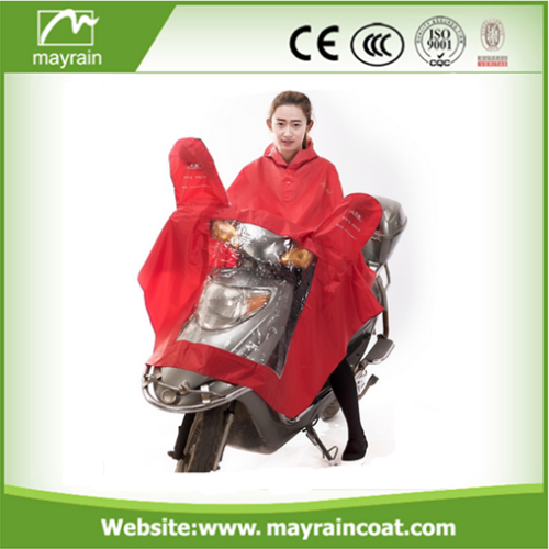 Adult Green Polyester Poncho