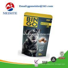 Embalagem colorida limitada plástico em pé sacos de alimentos para animais sacos de comida para cães