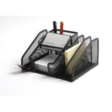 Multifunktionaler Büroteilhalter aus Metallgitter