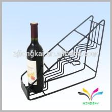 Étagère d'affichage de bouteille d'alcool en métal antique de haute qualité