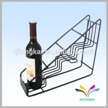 Household olive oil metal wire kitchen shelf for red wine