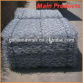 Niedriger Preis feuerverzinkte PVC beschichtete Gabion-Boxen & Plastik beschichtete Gabion Matratze / Stein Korb