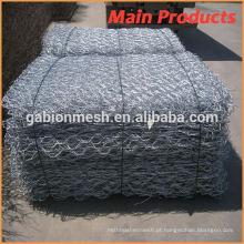 Caixas de gabion revestidas de PVC galvanizado a quente de baixo preço e colchão de gabion revestido de plástico / cesta de pedra