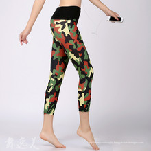 New Arrival Mulheres OEM Words Printde Fitness Sports Leggings