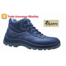 SRSAFETY высокое качество тиснение корова сплит кожа работы безопасности обувь высокой пятки стальной ногой безопасности обувь