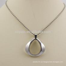 Made in china aço inoxidável bola cadeia colares