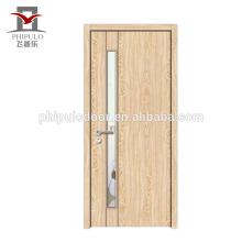 porta de madeira maciça de design exclusivo quarto
