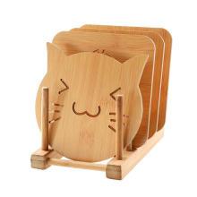 mantel de bambú de alta calidad de la tabla de cocina del aislamiento térmico para la venta