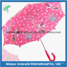 19inches recto automático abierto de impresión lindo paraguas de los niños