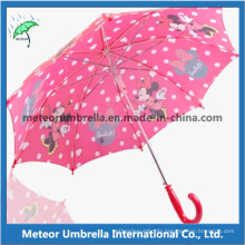 19inches Straight Automatic Open Printing Cute Children Umbrella