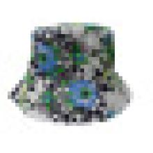 Chapéu de balde com tecido floral (BT045)