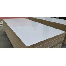 18mm uv coated high gloss melamine paper faced MDF board for indoor decoration