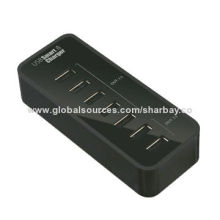 USB smart charger with TI charging chipset, 12V/2.5A power adapter, 12V DC/2.5A inputNew