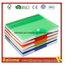 Caderno de capa de PVC para escola e material de escritório
