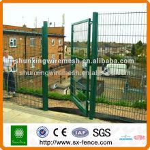 Puerta de la cerca del jardín del acoplamiento de alambre de metal