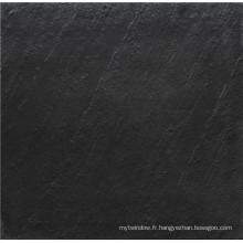 Carrelage rustique noir et blanc matte